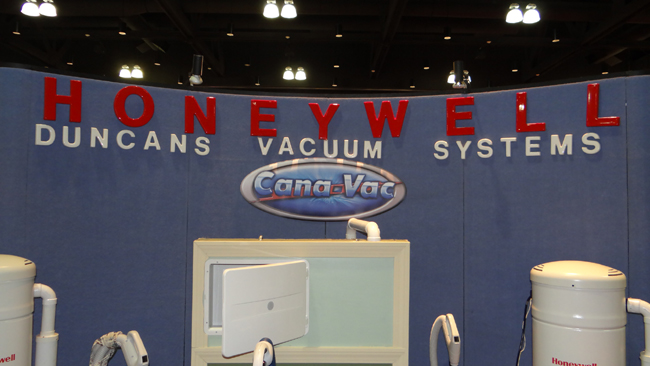 Duncan's Vacuum Systems on exhibit at a recent home show in Bristol, CT